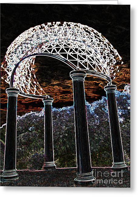 Greeting Card featuring the photograph Gazebo 1 by Minnie Lippiatt