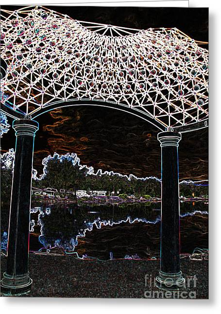 Greeting Card featuring the photograph Gazebo 2 by Minnie Lippiatt