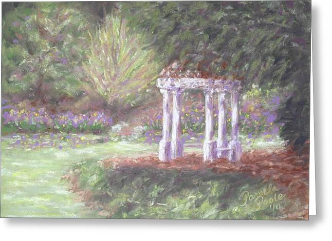 Gazebo At Hopelands In Spring Greeting Card