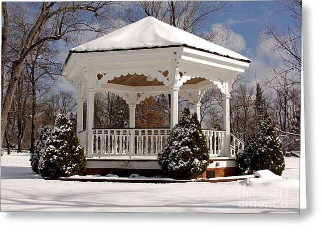 Gazebo At Olmsted Falls - 2 Greeting Card
