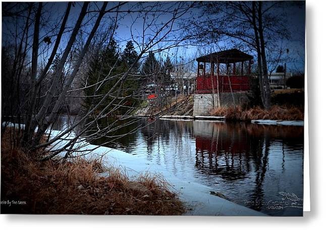 Gazebo By The Creek 01 Greeting Card