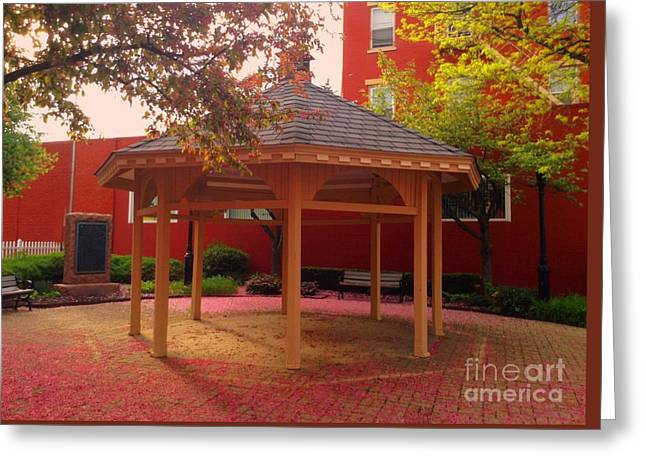 Greeting Card featuring the photograph Gazebo In Pink by Becky Lupe