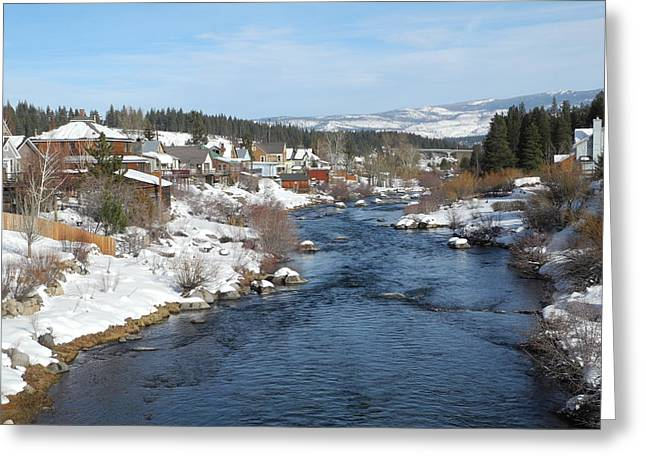 Gazing Over The Truckee River Greeting Card