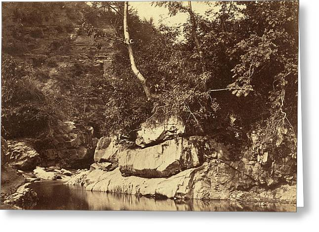 G.b. Gething British, Active C.1850s, River Scene Greeting Card by Quint Lox