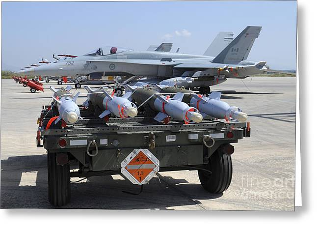 Gbu-12 Laser Guided Bombs Of The Royal Greeting Card