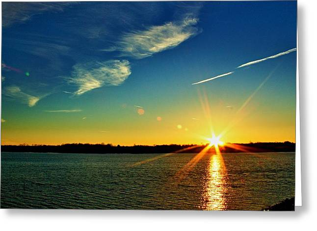 Gc Lake Sunrise Greeting Card