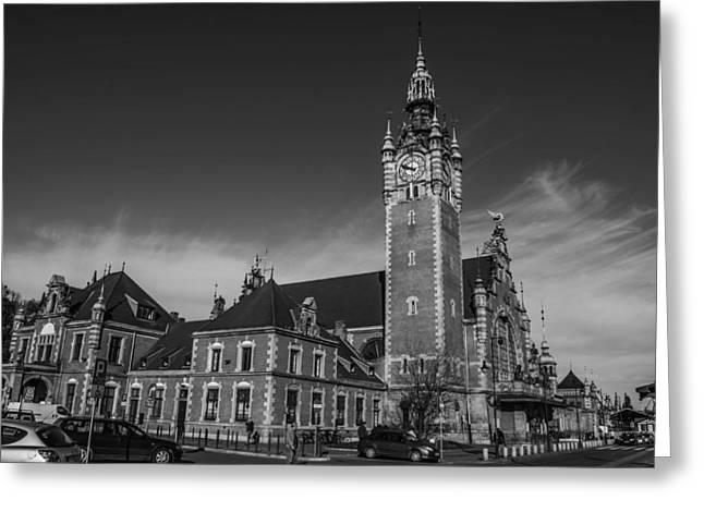 Gdansk Main Station Bw Greeting Card by Adam Budziarek