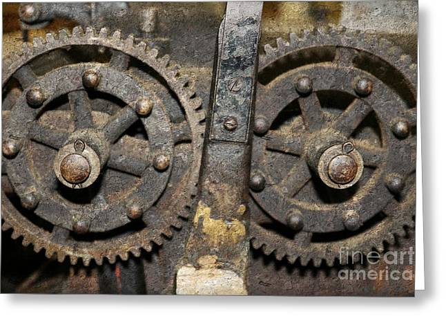 Gearing Up Greeting Card by Benanne Stiens