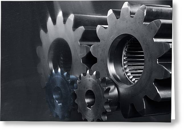 Gears And Power Greeting Card