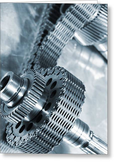 Gears Axle Powered By Timing Chain Greeting Card