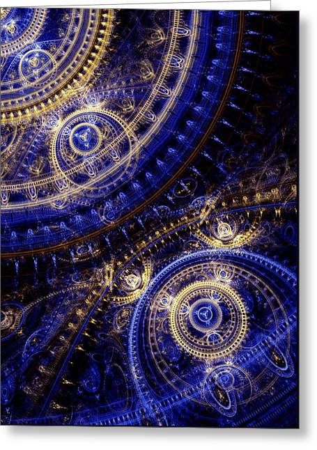 Gears Of Time Greeting Card by Martin Capek