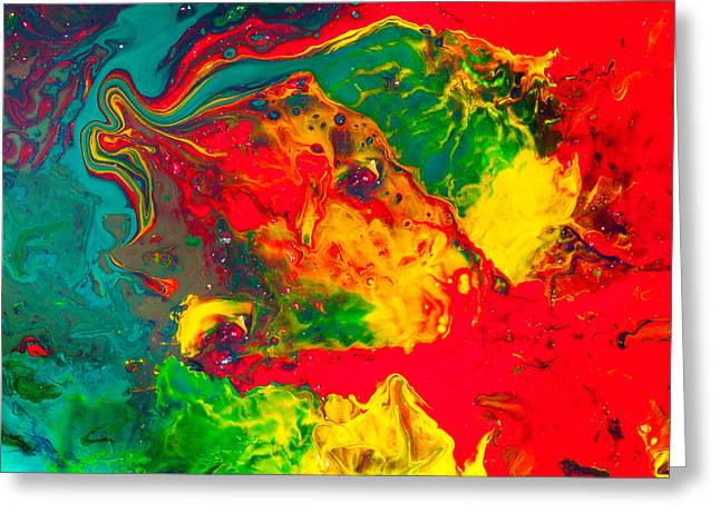 Gecko - Colorful Abstract Painting Greeting Card