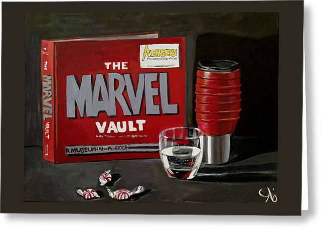 Marvel Comic's Still Life Acrylic Painting Art Greeting Card