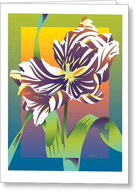 Geen Flamboyance Greeting Card