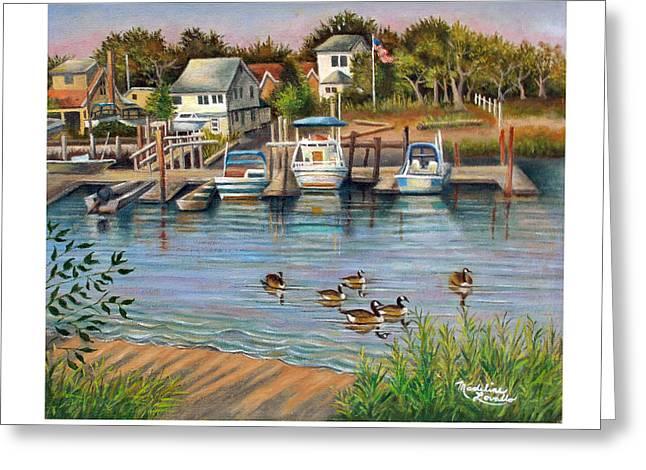 Geese In Hamilton Beach Greeting Card