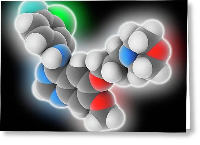 Gefitinib Drug Molecule Greeting Card