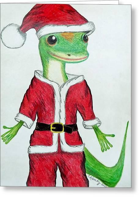 Geico Santa Greeting Card by Carol Hamby