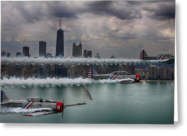 Geico Skytypers Greeting Card by Jerome Lynch