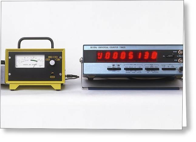 Geiger Counters With Digital Display Greeting Card by Dorling Kindersley/uig