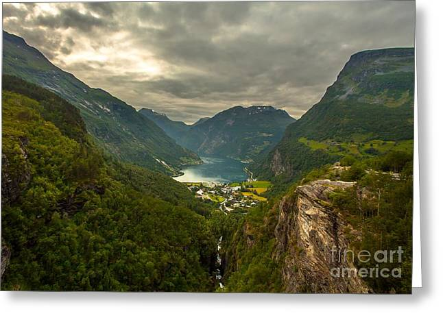 Geiranger Greeting Card by Rose-MariesPictures