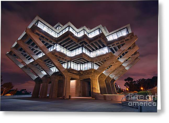 Geisel Library Greeting Card by Eddie Yerkish