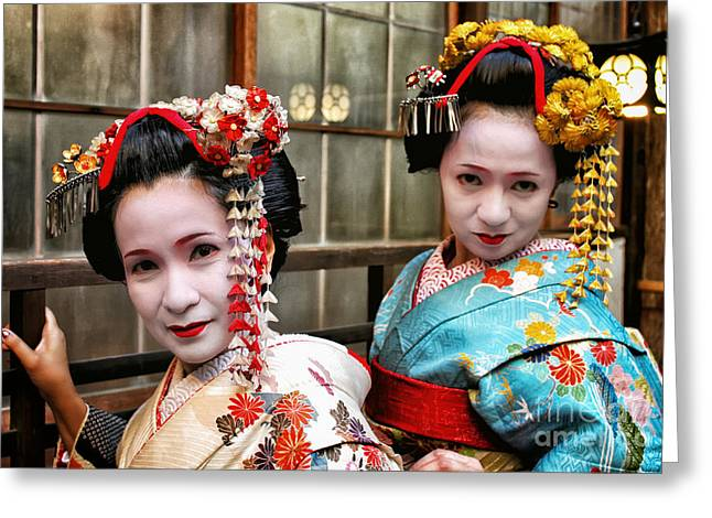 Greeting Card featuring the photograph Geisha 2 by John Swartz