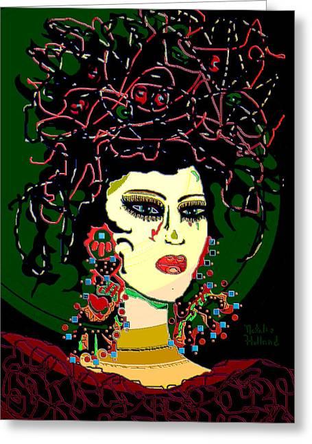 Geisha 6 Greeting Card by Natalie Holland