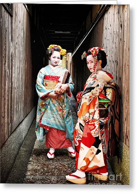 Greeting Card featuring the photograph Geisha Alley by John Swartz