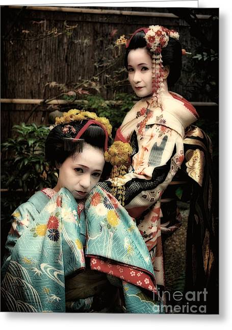 Greeting Card featuring the photograph Geisha Garden by John Swartz