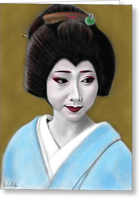 Geisha No.179 Greeting Card