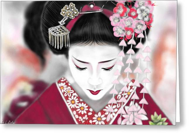 Geisha No.185 Greeting Card