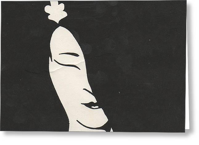 Geisha Greeting Card by T Ezell