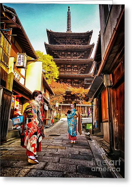 Greeting Card featuring the photograph Geisha Temple by John Swartz