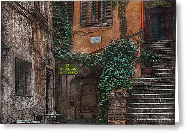 Gelateria Del Teatro Greeting Card by Hanny Heim