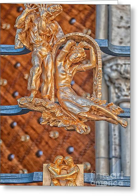 Gemini Zodiac Sign - St Vitus Cathedral - Prague Greeting Card by Ian Monk