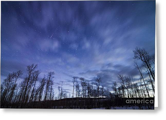 Geminid Meteor Over Jackson Hole Greeting Card