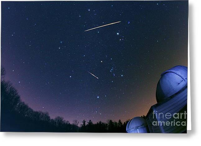 Geminid Meteors Greeting Card