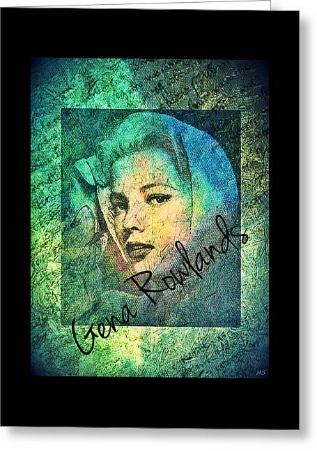 Greeting Card featuring the digital art Gena Rowlands by Absinthe Art By Michelle LeAnn Scott