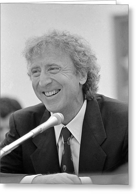 Gene Wilder (1933-2016) Greeting Card by Granger