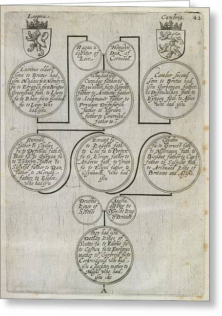 Genealogy Of James I Greeting Card by British Library