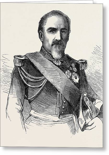 General Camou Commander Of The 2nd Division Of The Imperial Greeting Card by English School