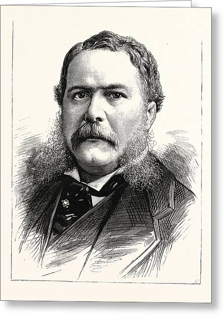 General Chester A. Arthur, Vice-president-elect Greeting Card by American School