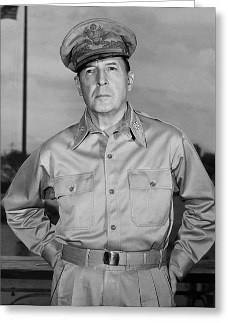 General Douglas Macarthur Greeting Card by Andrew Lopez