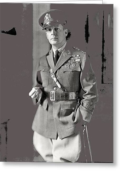 General Douglas Macarthur Harris And Ewing Glass Negative Washington Dc November 1920-2014 Greeting Card