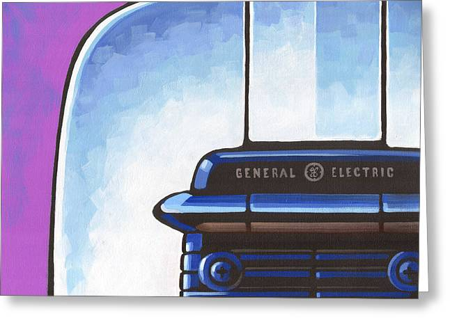 General Electric Toaster - Purple Greeting Card