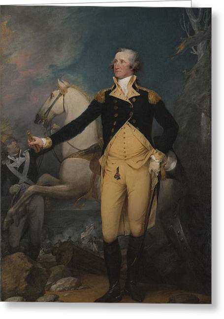 General George Washington At Trenton, 1792 Greeting Card by John Trumbull