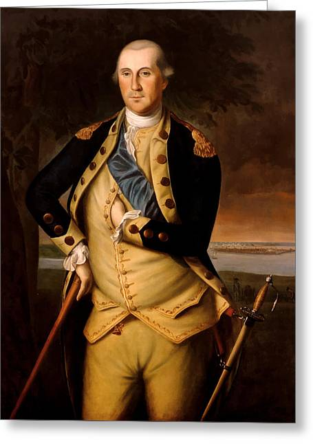 General George Washington  Greeting Card by War Is Hell Store