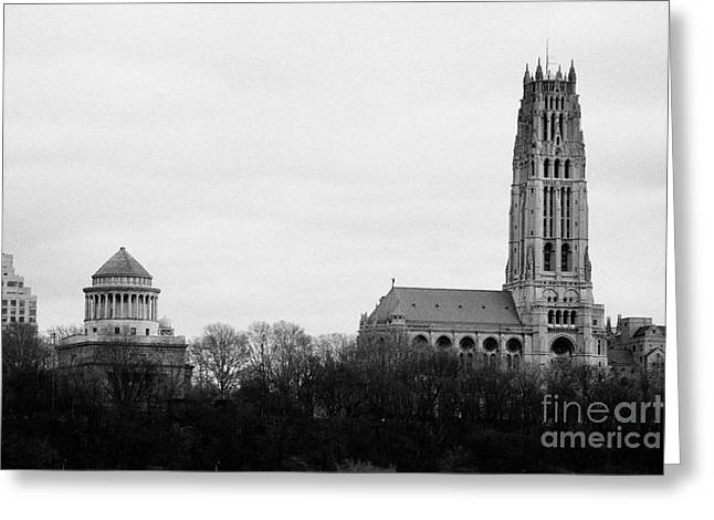 General Grant National Memorial And Riverside Church Riverside Park New York City Greeting Card by Joe Fox