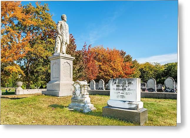 General Hiram G Berry Monument Greeting Card by Tim Sullivan