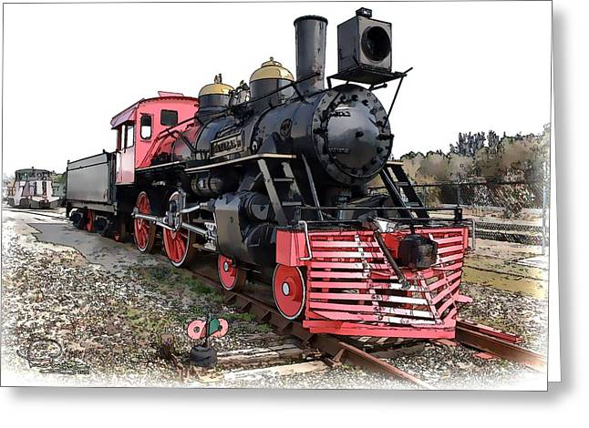 Greeting Card featuring the photograph General II - Steam Locomotive by Ludwig Keck